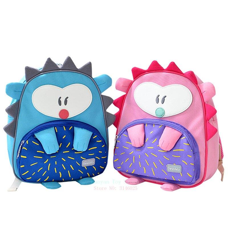 Корея Анти потеря детского сада мультфильм школьные сумки детские животные игрушки багидгехог 2 6 девочек мальчиков Симпатичные школьные р