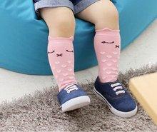 Девочка мальчик дети детские носки животное рисунок хлопок анти-слип колен-высокие носки 0-4Y