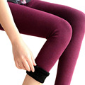 warm fleece cotton stretch leggings Trousers For Women Colorful Cotton Warm stirrup Leggings ropa mujer invierno 2015  BG540