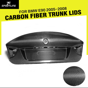 Car Styling Carbon Fiber Rear Trunk Luggage For BMW 3 Series CSL E90 2005 2008 carbon fiber trunk e90 csl trunke90 csl -