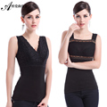 Lady Vest Size with warm cashmere thermal underwear wearing female body warm clothing vest B-1542