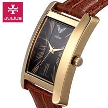 Dames montre – Bracelet heures Quartz Best Fashion robe corée Bracelet cuir marque horloge Rome JA399 numérique