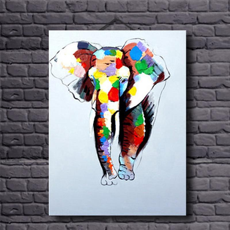 Handmade oil paintings elephant painting wall Art on canvas for home decoration unframed animal picture modern