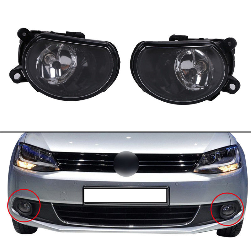 цена на 1 Pair Front Bumper Fog Light Driving Lamps Light Assy Halogen headlights Lens For Audi A8 2005-2007 4E0941699A / 4E0941700A //