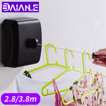 Retractable Clothesline Dryer Wall Mounted Outdoor Indoor Laundry Hanger Clothes Drying Rack Rope Stainless Steel