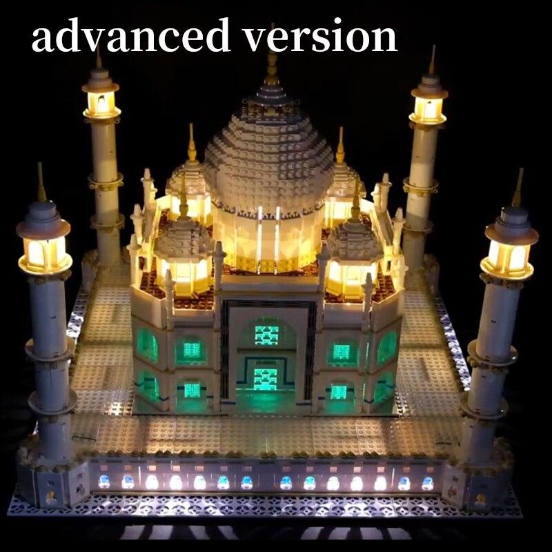 цена на LED Light Kit for lego 10189/10256 and 17001/17008 The taj mahal Building Blocks Bricks Toys Gift (only lights with Battery box)