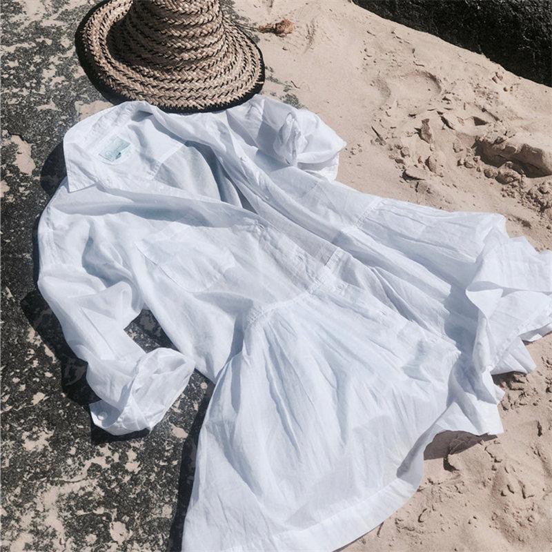 Beach dress Saida de Praia Cotton Beach Cover up Kaftan Beach Pareos de Playa Mujer Lace Bikini Cover up Swimsuit cover up #Q662