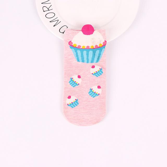 Cute Patterned Cotton Socks 10 pcs Set