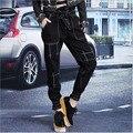 Женская плюс размер отверстия Cross брюки джинсы 2017 Весенняя Мода чистого хлопка сломанной отверстие Джинсы Свободные Cross брюки джинсовые брюки дамы