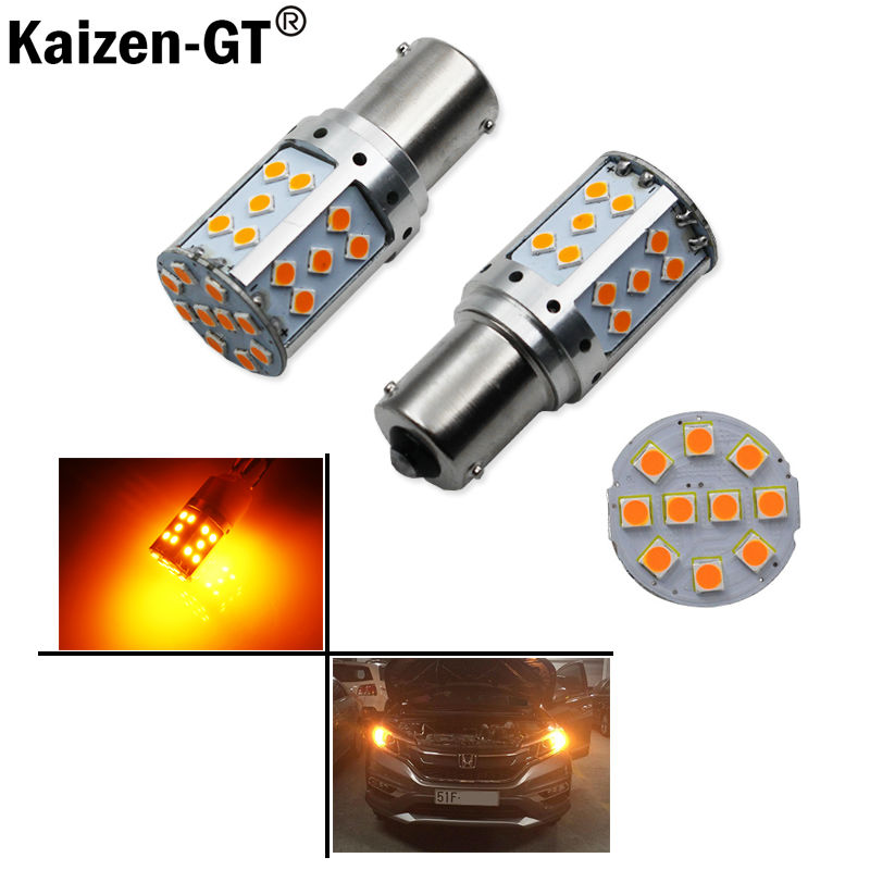 (4) No Resistor, No Hyper Flash 21W High Power Amber BAU15S 7507 PY21W 1156PY LED Bulbs For Car Front or Rear Turn Signal Lights jstop 4pcs set i40 i45 sonata veloster no error no hyper flash car front rear turn signals 12v bau15s py21w led auto turn signal