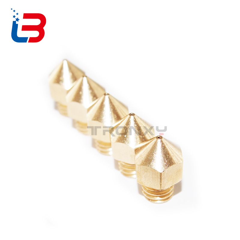 Tronxy 3D printer copper Nozzle with 3D PRINTER Extruder nozzle size 0.2mm 0.3mm 0.4mm