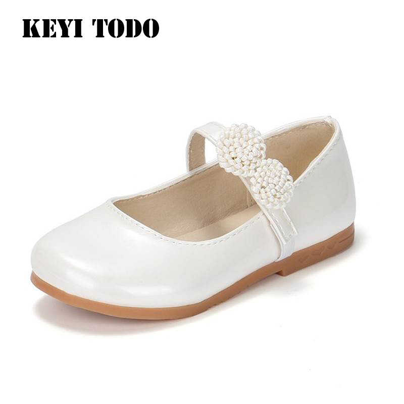 2019 spring Kids show Shoes girl white Princess Kindergarten performance shoes  girl single shoes soft Bottom 0c03e0d0ef2c