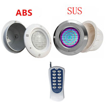 12V Stainless Steel/ABS RGB Swimming Pool Light with Remote Controller IP68 Waterproof Pond Lamp