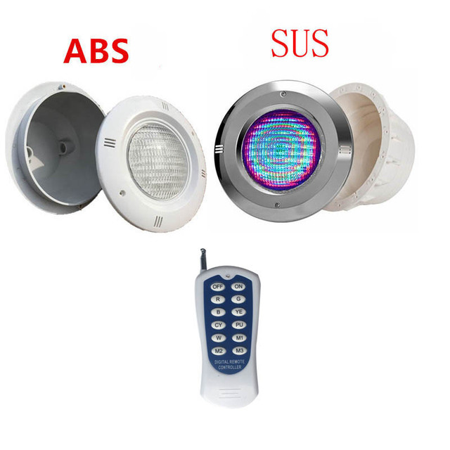 $ 93.89 12V Stainless Steel/ABS RGB Swimming Pool Light with Remote Controller IP68 Waterproof Pond Lamp