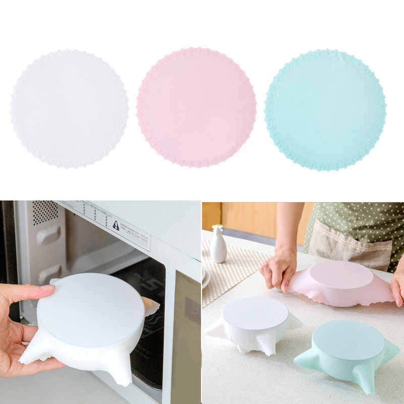 Reusable Silicone Stretch Lids Cookware Pot Pan Bowl Kitchen Organizer Vacuum Storage Cover Kitchen Accessories Tool 7
