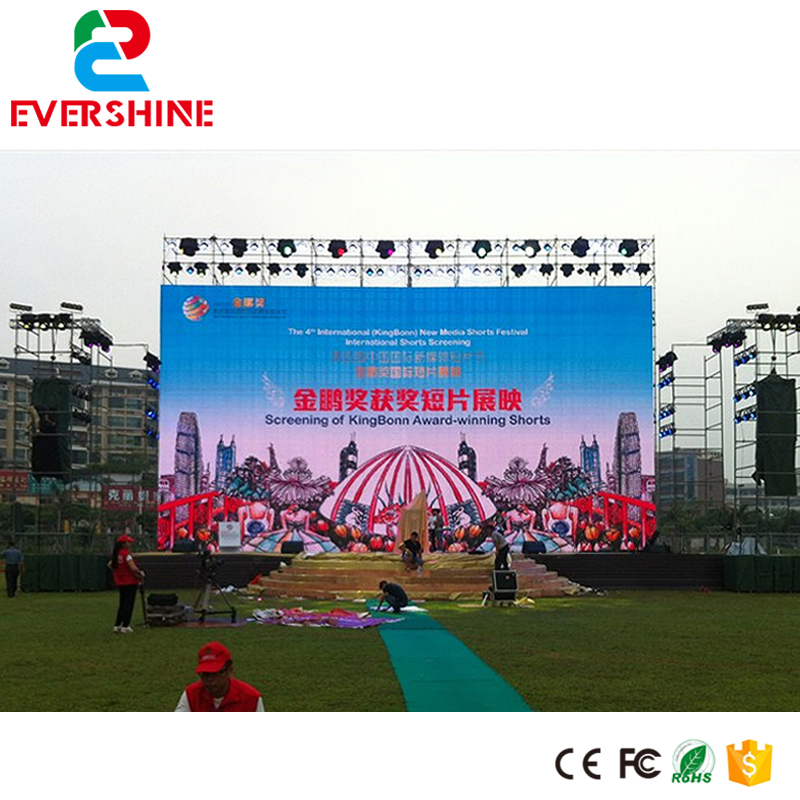 Outdoor ph4mm rental Die casting aluminum cabinet led full color display screen p4 smd led video wall board