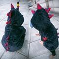 LZH 2017 Nuevos Bebés Chaqueta de Abrigo de Invierno Para Niños Dinosaur chaqueta Chaqueta de Los Niños Encapuchados Abrigo Niños de la capa de Piel Caliente ropa