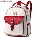 FLYING BIRDS! mochila 2016 new Daily backpack women leather backpacks school bgas high quality travel bags rucksack LS8416fb