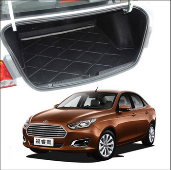 Trunk Tray Liner Cargo Mat Floor Protector foot pad mats For Ford Escort 2014 2015 3colors