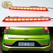 For Hyundai Santro 2018 2019 Multi-function LED Reflector Lamp Rear Fog Lamp Bumper Light Brake Light Turn Signal Light for hyundai santa fe ix45 2016 2017 sncn multi function car led rear bumper light auto brake light turn signal light reflector