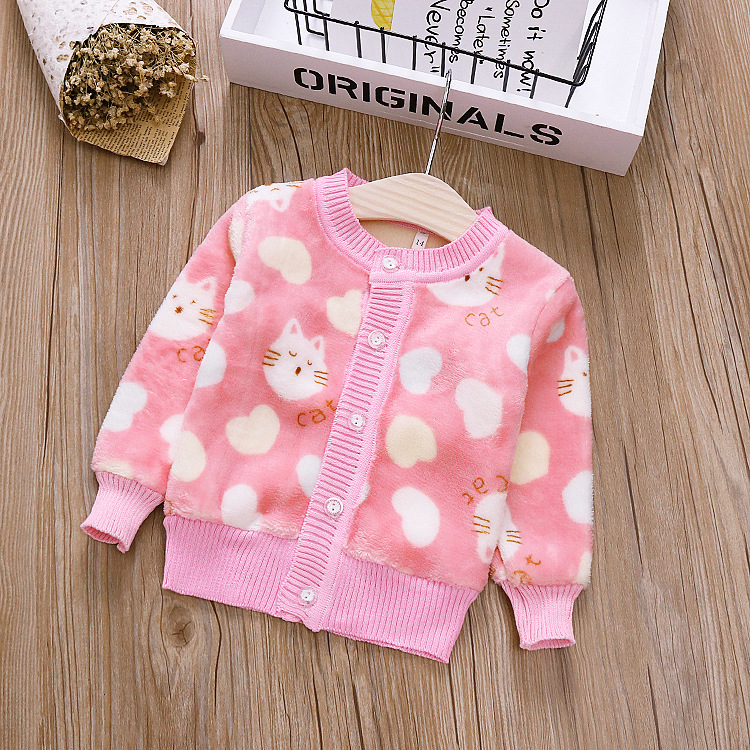 1 3 Years Old Baby Girl Sweater Child 17 Winter Ball In Hand Down Sweater  Cardigan Jacket Cardigan For Girl Girls Cardigan Sweaters  - AliExpress