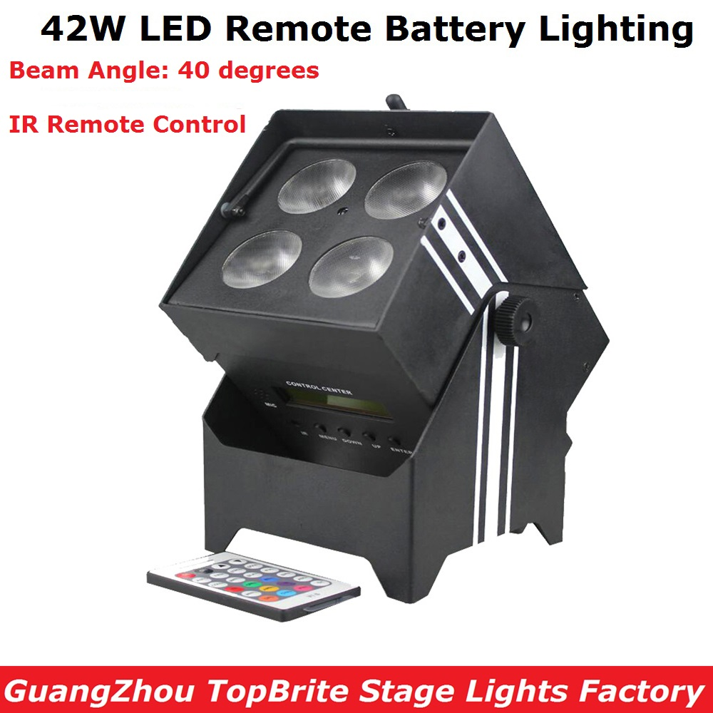 Wireless Battery Powered Portable Uplights 42W 6IN1 Led Par Light RGBWA+UV Slim Par Can With IRC For Party Wedding Decorations