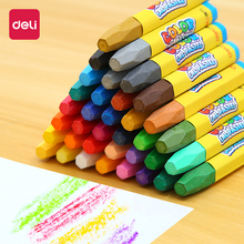Deli Wax Crayon Kids Oil Painting Stick Candy Color Pastel Crayon Child Safety Non-toxic Pastel 12/18/24/36 Colors Per Box