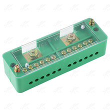 Single Phase 2-IN 12-OUT Wire Terminal Box Household Distribution Box Terminal Row 220V Junction box FJ6