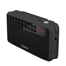 Rolton E500 נייד סטריאו Bluetooth רמקולים FM רדיו בס כפול רמקול TF כרטיס USB נגן מוסיקה (שחור)