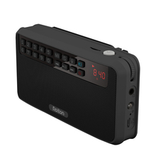 Rolton E500 Tragbare Stereo Bluetooth Lautsprecher FM Radio Bass Dual Lautsprecher TF Karte USB Musik Player (Schwarz)