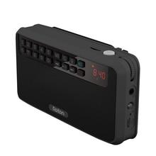 Rolton e500 alto falante portátil estéreo, bluetooth, rádio fm, baixo, cartão tf duplo, usb, reprodutor de música (preto)