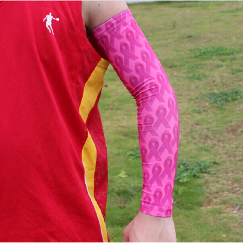 New Arrival All Full Pink Cancer Breast Ribbon Sleeve Cyclingsports Sleeve Digital Camo Elite Baseball