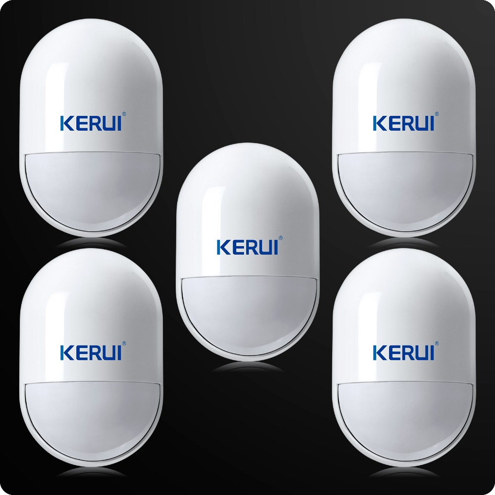 5pcs lot Intelligent Wireless High Quality PIR Motion Sensor Anti tamper Detector For Home Security Voice