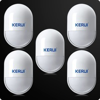 5pcs/lot Intelligent Wireless High Quality PIR Motion Sensor Anti-tamper Detector For Home Security Voice Alarm System