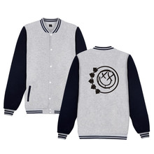 Punk Rock Band Blink-182 baseball jacket hoodies men Rock streetwear blink one eighty two Jacket 4XL plus size Blink 182 Clothes