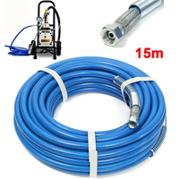 1Pc High Pressure Pipe 15m Airless Hose 5000psi Airless sprayer Airless Paint Hose For Sprayer Water Sprayer Gun