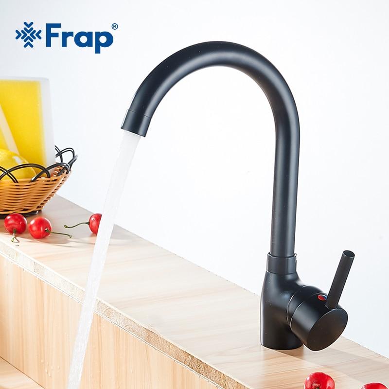 Robinets de cuisine modernes à poignée unique robinet d'évier de cuisine à eau chaude et froide robinets de cuisine flexibles robinet de cuisine noir Y40092-1