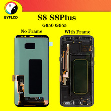 LCD ต้นฉบับสำหรับ Samsung Galaxy S8 G950 G950F สำหรับ Samsung S8 Plus lcd G955 G955F Burning shadow จอแสดงผล Touch หน้าจอ