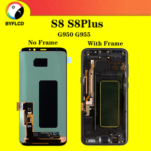 Image 1 - Original LCD For Samsung Galaxy S8 G950 G950F Screen For Samsung S8 Plus lcd G955 G955F Burning shadow Display Touch Screen
