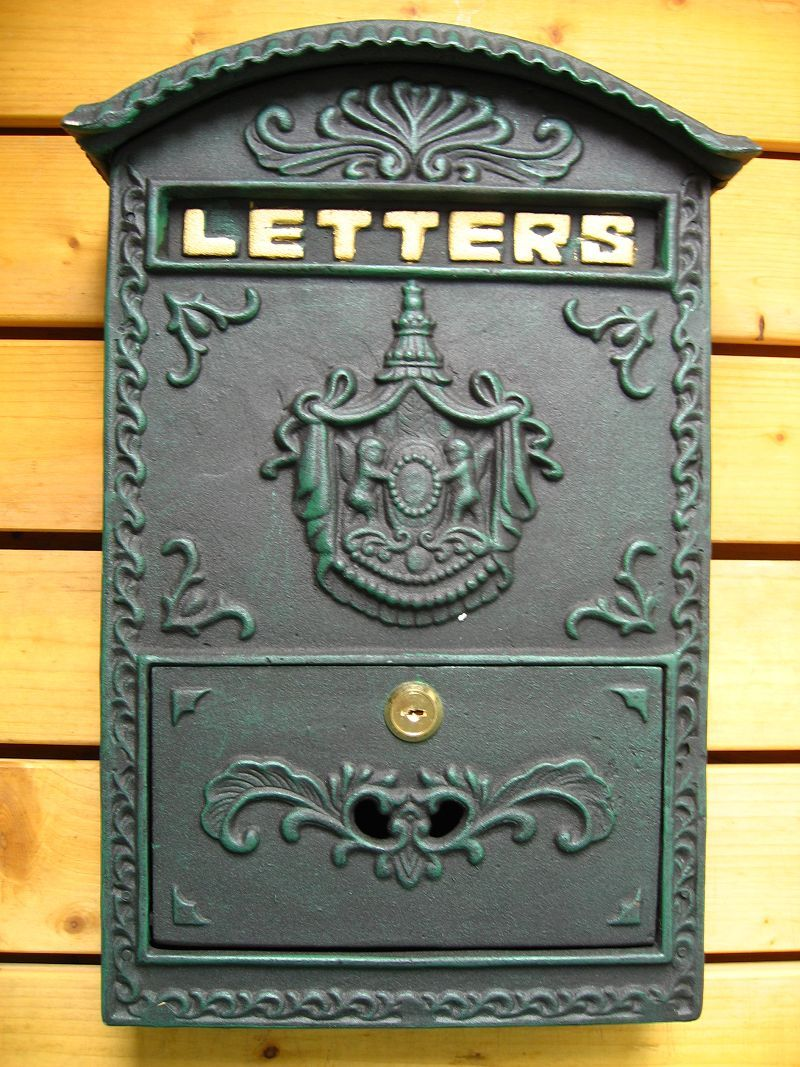 Fashion vintage mailbox pillar-box letter holder mailbox wrought iron decoration