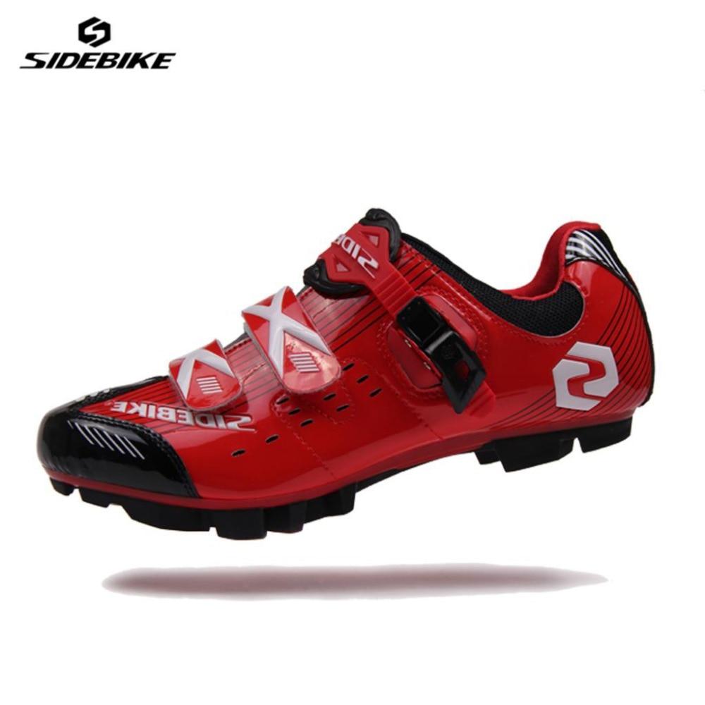 SIDEBIKE Professional Lightweight Bicycle Cycling MTB font b Shoes b font Mountain Bike Racing Self Locking