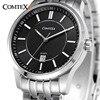 COMTEX Men S Watch Authentic Sapphire Quartz Calendar Stainless Steel Fashion Men Watch Men S Classic