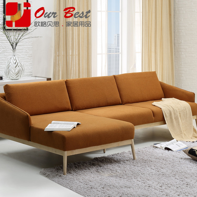 Olger Beth Nordic Holz Sofa Europischen Modernen Minimalistischen Kleine Wohnung Wohnzimmer Stoff Der Wahl In