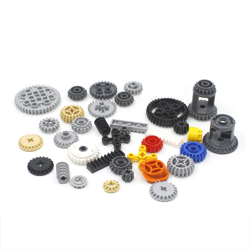 5-50Pcs Technic Gears Parts Compatible With Technic Brick 10928 Gears 6589 Parts 6-40 Teeth 3648 32270 3649 94925 Parts DIY Toys