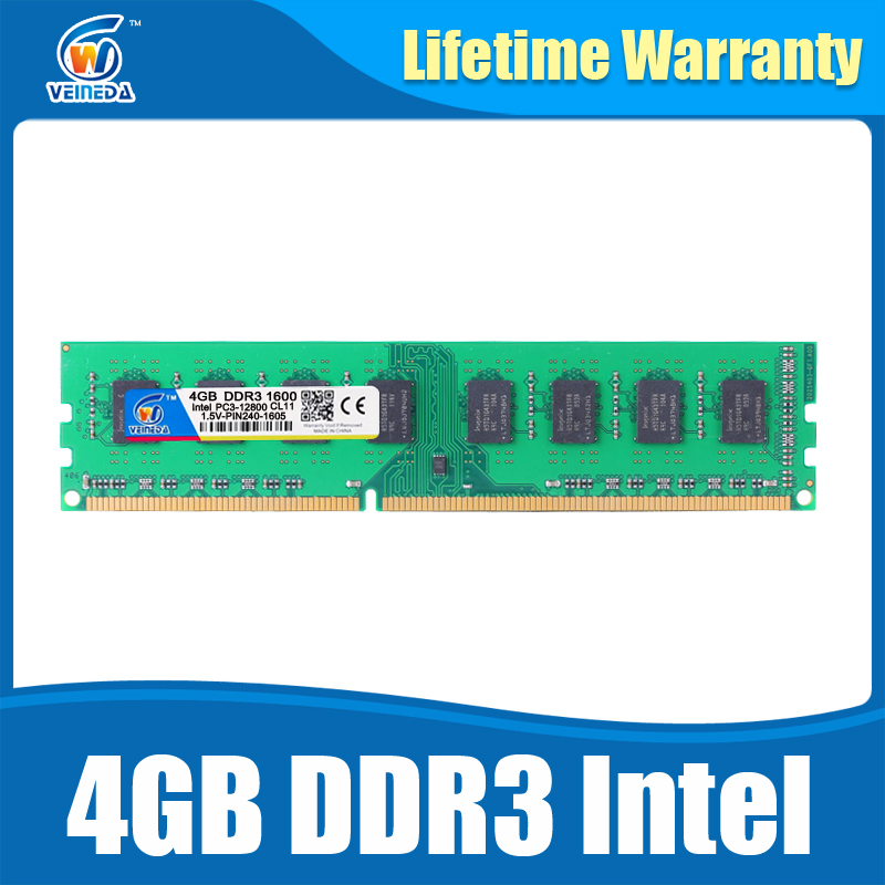 Dimm Ram DDR3 4 gb 1600Mhz ddr 3 4gb PC3-12800 Memoria 240pin for All AMD Intel Desktop кронштейн arctic w1a oraeq ma005 gb