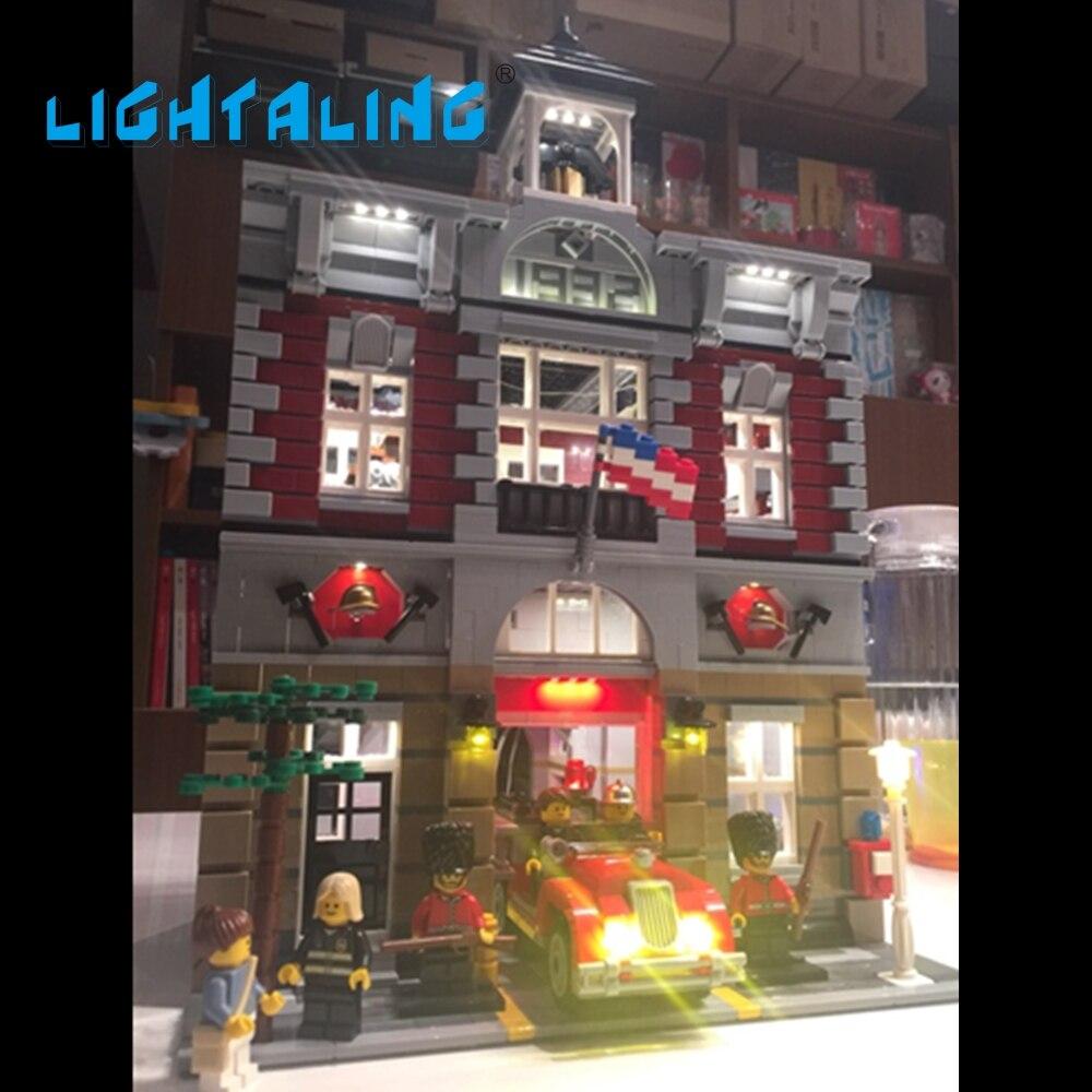 Lightaling светодиодные комплект Совместимость с известным брендом 10197 строительные Конструкторы кирпичи пожарной Игрушечные лошадки USB зарядк…