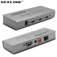 VOXLINK Full HD 1080 P 4 K HDMI 2.0 Anahtarı Splitter 1X2 3D 1 2 OUT HDMI Switcher HDTV Desteği IR Uzatma RS232 EDID PS3