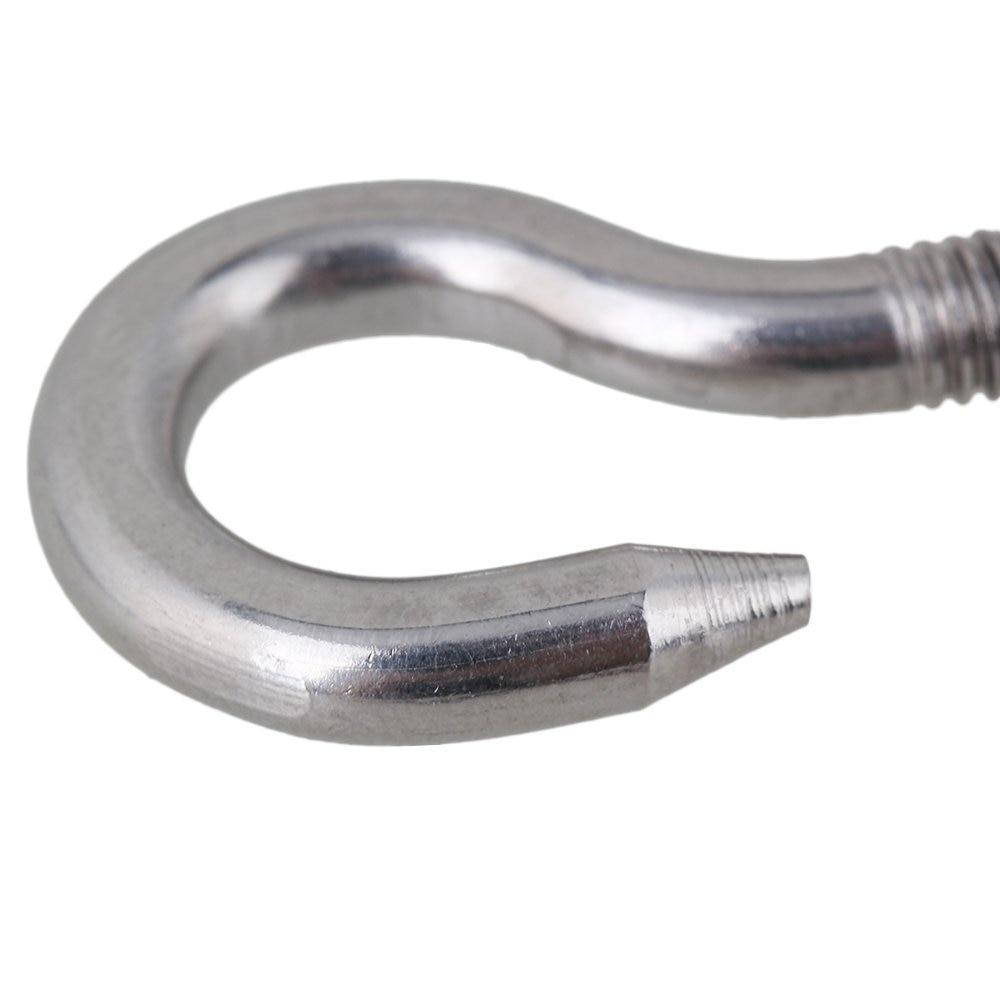 Silver 304 Stainless Steel European Style Hook & Hook M4 Turnbuckles ...