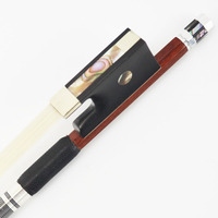 Nice IPE Wood Violin Bow 3/4 Size Pernambuco Performance Straight and Well Balanced MELLOR Advanced Level A10