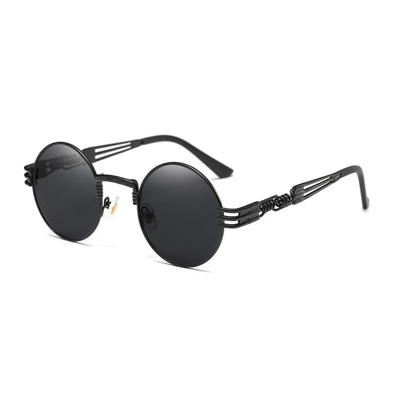 TSHING RAY Gothic Steampunk Rodada Óculos De Sol Dos Homens do Metal Rodada  Shades Masculino Transparente Óculos de Sol Para As Mulheres do Hip Hop Do  Punk ... e3518e1e1e